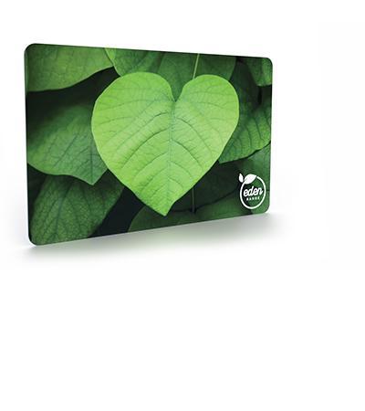 Environmentally friendly paper board card material