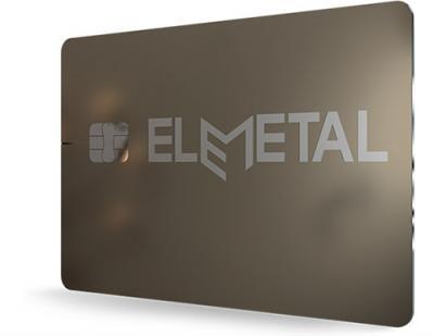 Dual metal payment card