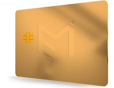 Pure gold payment card
