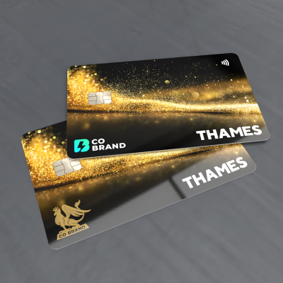 Digitally printed financial co-branded cards
