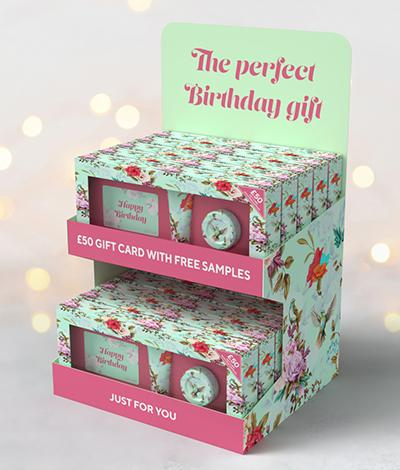 Gift card plus Counter Display Unit