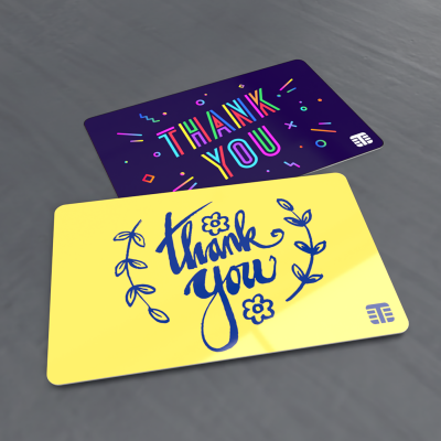 Digitally printed thank you cards