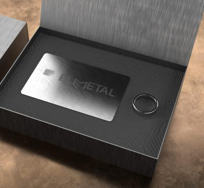 Wearable payment ring with metal payment card