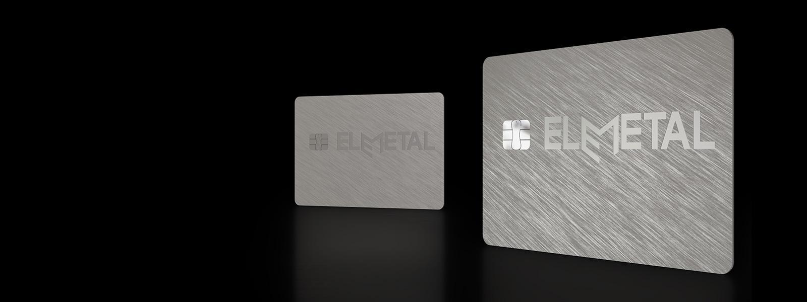 Elemetal range of metal banking cards