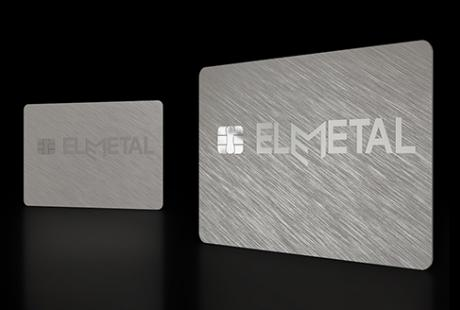 Elemetal range of metal banking cards
