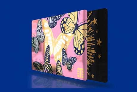Metalprint paperboard for gift cards